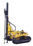 KY100 semi-hydraulic low wind pressure open-air crawler drilling rig