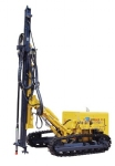KY125 semi-hydraulic medium wind pressure open-air crawler drilling rig